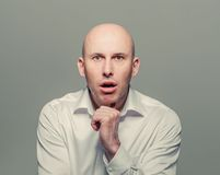 Man surprised with open mouth portrait Royalty Free Stock Images