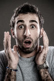 Man surprised for you Stock Image