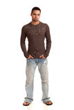 Man in Sweater and Jeans Royalty Free Stock Image