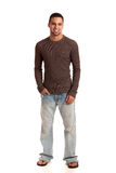 Man in Sweater and Jeans Stock Photography