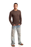 Man in Sweater and Jeans Royalty Free Stock Images