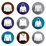 Man sweaters vector icon set. Royalty Free Stock Photography