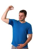 Man sweating very badly under armpit Stock Images