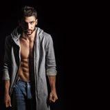 Man sweatshirt and jeans Stock Image