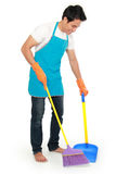 Man sweep floor Royalty Free Stock Image