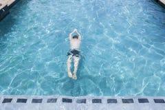 Man Swim Pool Royalty Free Stock Photos