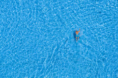 Man swim in the swimming pool at the hotel. Istanbul, Turkey Stock Images