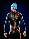Man swimmer swimming  triathlon ironman isolated Stock Image