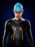 Man swimmer swimming  triathlon ironman  Royalty Free Stock Photos
