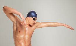 Man in swimming cap Royalty Free Stock Photos
