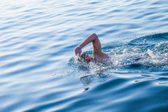 Man swimming in clear water Royalty Free Stock Photography