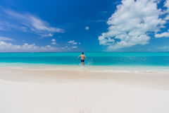 Man swimming in Cuba Royalty Free Stock Image