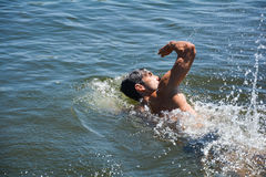 Man swimming Stock Photography