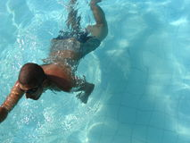 Man Swimming In A Pool. Royalty Free Stock Photography