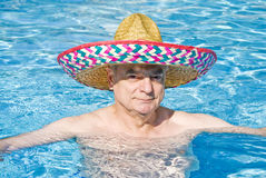 Man in Swimming Pool Stock Photos