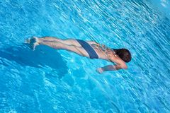 A man in the swimming pool Royalty Free Stock Photo
