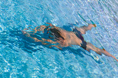 A man in the swimming pool Stock Photo