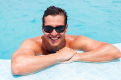 Man swimming pool Stock Photos