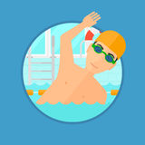 Man swimming in pool. Royalty Free Stock Photo