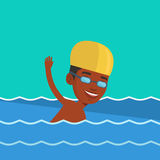 Man swimming vector illustration. Stock Images