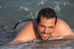 Man swimming Royalty Free Stock Photo
