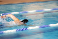 Man swims world record Royalty Free Stock Photo