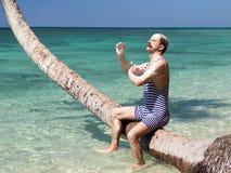 Hygiene in the tropical sea Stock Photos