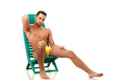 Man in Swimwear Stock Photo