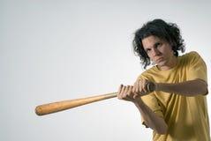 Man Swinging a Baseball Bat - Horizontal Royalty Free Stock Image