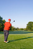 Man Swinging Golf Club Royalty Free Stock Images