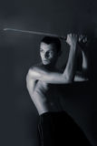 Man sword Stock Image