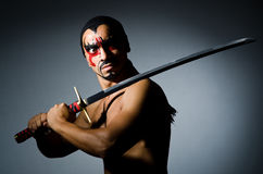 Man with sword Stock Photography