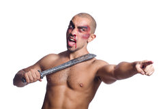 Man with sword Stock Photo