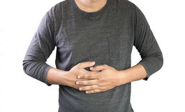 MAN with symptomatic acid reflux , suffering from acid reflux at Royalty Free Stock Photos