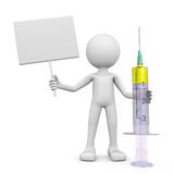 Man with a syringe with medicine Stock Photos