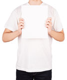 Man T-shirt board Royalty Free Stock Photo
