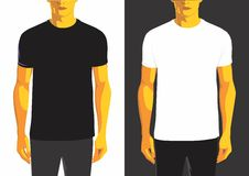 Man t-shirt design template Royalty Free Stock Images