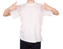 Man T-shirt. Isolated on white background Royalty Free Stock Photo