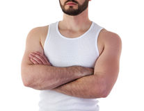 Man in t-shirt mock-up Stock Photography