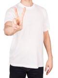 Man T-shirt peace Stock Image