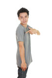 Man with t-shirt (side view) Stock Photo