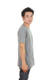 Man with t-shirt (side view) Stock Photos