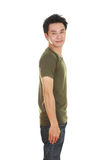 Man with t-shirt (side view) Royalty Free Stock Photo