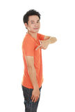 Man with t-shirt (side view) Stock Images