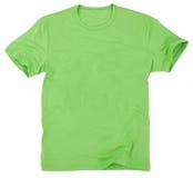 Man t-skjorta som isoleras på vitbakgrund Arkivbild
