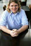 Man at table Royalty Free Stock Image