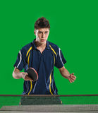Man table tennis player Royalty Free Stock Photo