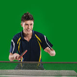 Man table tennis player Stock Images