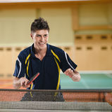 Man table tennis player Royalty Free Stock Image
