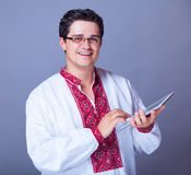 Man  with tablep Stock Images